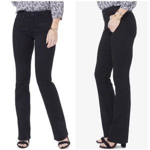 LIKE NEW NYDJ Barbara Bootcut Black Jeans - Bling